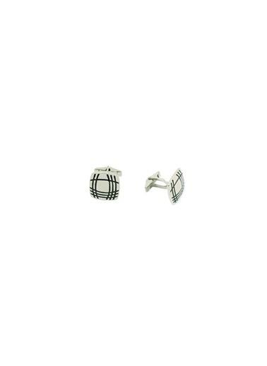 Aykat Kol Düğmesi 925 Ayar Gümüş Erkek Kol Düğmesi Kol-15 Gümüş